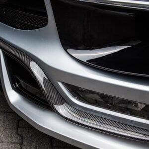 Ornament fibra carbon spoiler fata Porsche Macan 95B Techart