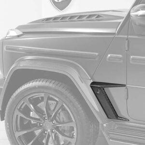 Panoul lateral aripi fata logo fibra carbon Mercedes Benz G-class W463 INFERNO Topcar Design